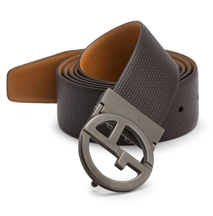 EMPORIO ARMANI - Plate Leather Belt