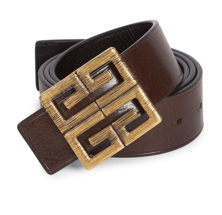 GIVENCHY - Reversible Logo Buckle Leather Belt