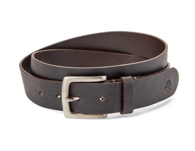 TIMBERLAND - Dark Brown Leather Belt