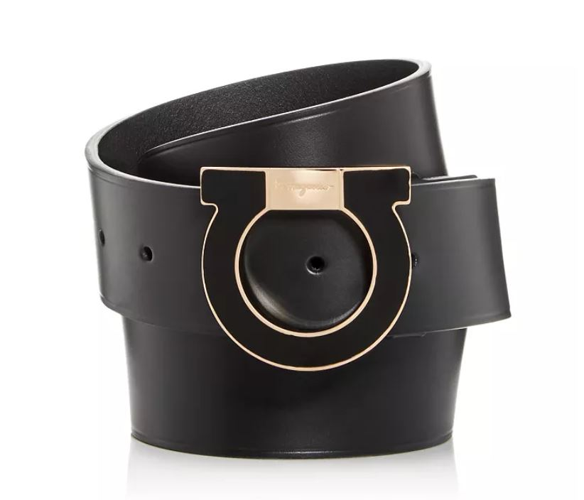 SALVATORE FERRAGAMO - Men's Gancio Buckle Leather Belt