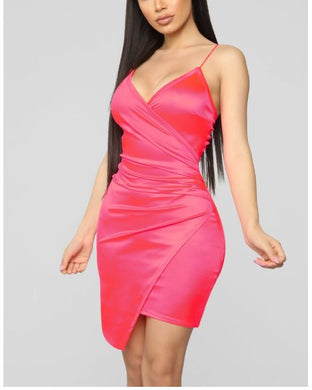 NOVA WEAR - Bright Life Satin Dress
