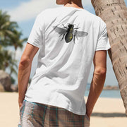 Unisex organic cotton save the bees shirt white back on man