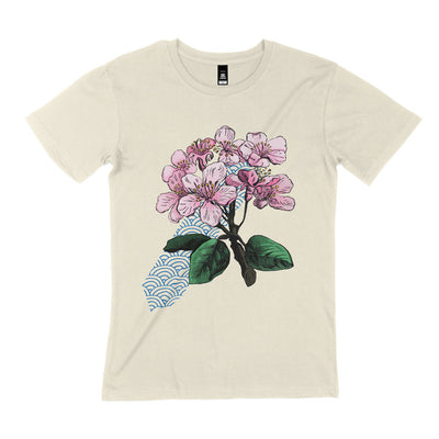 natural organic cotton unisex cherry blossom tshirt