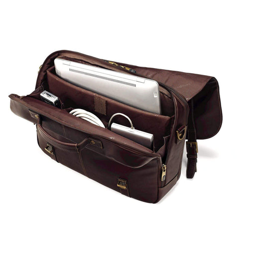 Samsonite Leather Flapover Case Double Gusset
