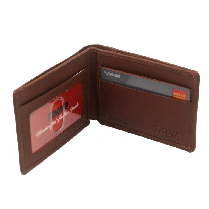 Touro Signature Leather Wallets Pebble Grain Card Wallet
