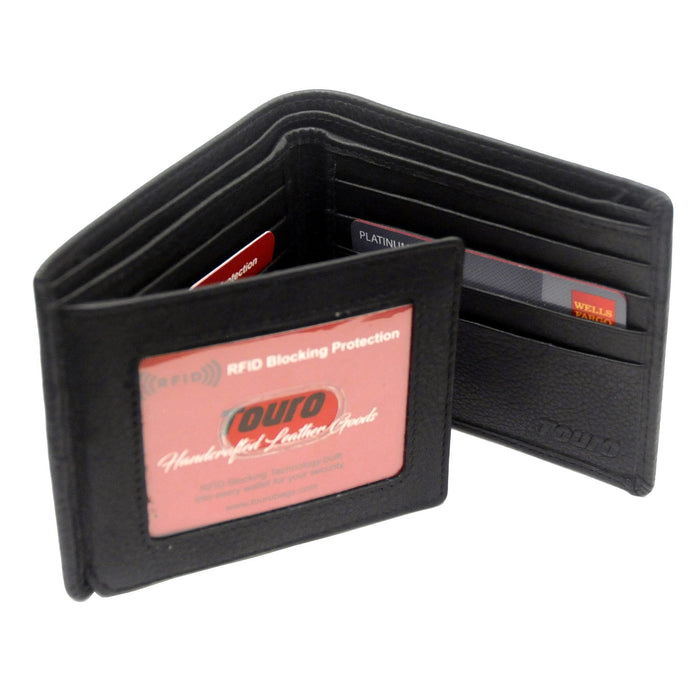 Touro Signature Leather Wallets Pebble Grain Extra Page Wallet