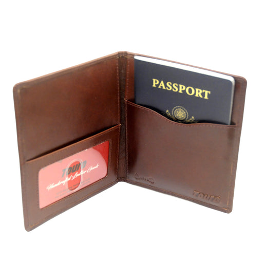 Touro Signature Leather Wallets Veg Tanned Passport Case