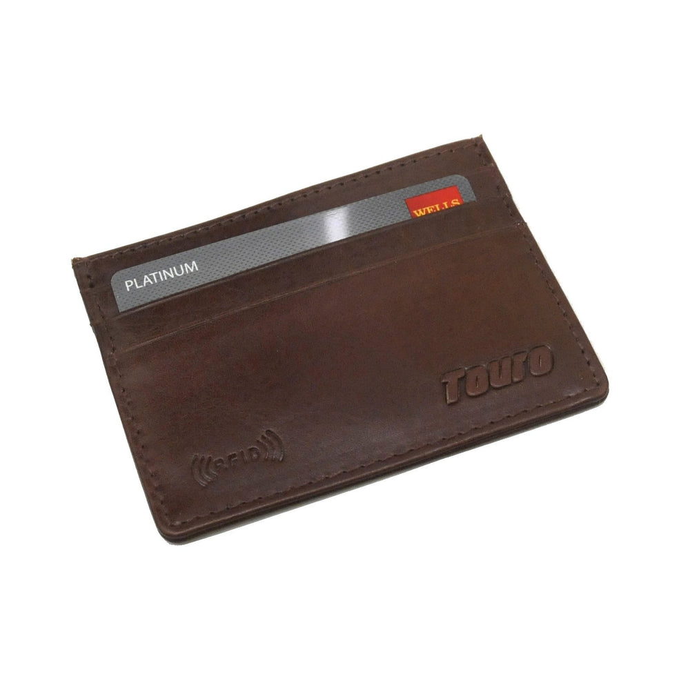 Touro Signature Leather Wallets Veg Tanned Slim Card