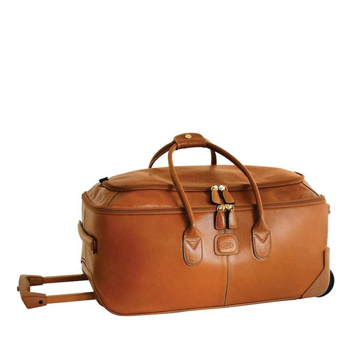 "Brics Life Pelle 21"" Carry On Rolling Duffle"