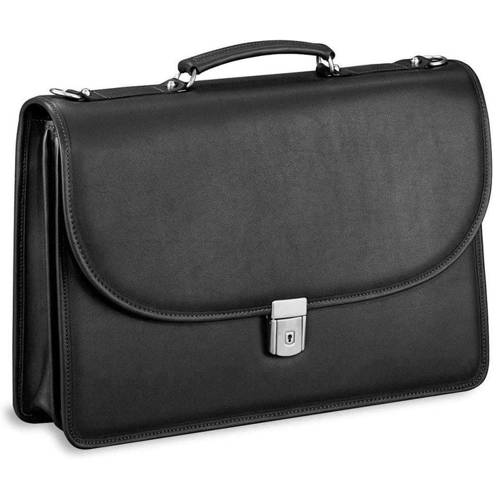 Jack Georges Platinum Double Gusset Flap With Key Lock