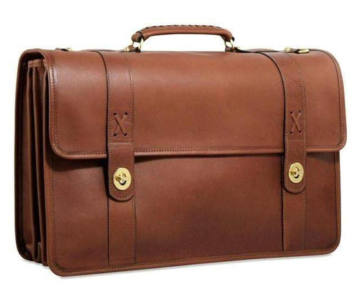 Jack Georges Belmont Executive Leather Briefcase