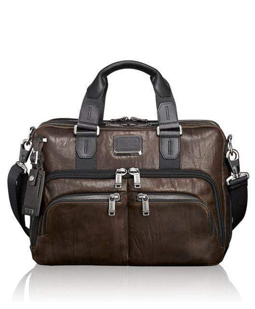 Tumi Alpha Bravo Albany Slim Commuter Brief Leather