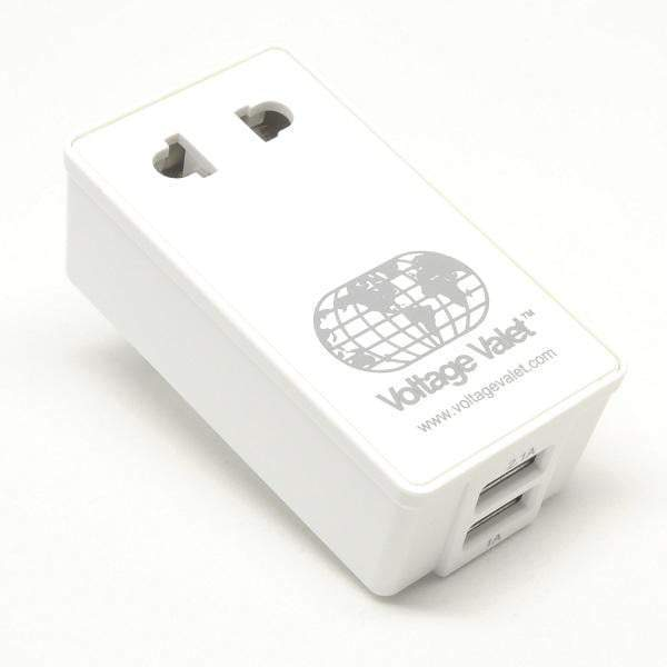 Voltage Valet Adaptor Plug with 2 Port USB - North, Central, South America - PAU