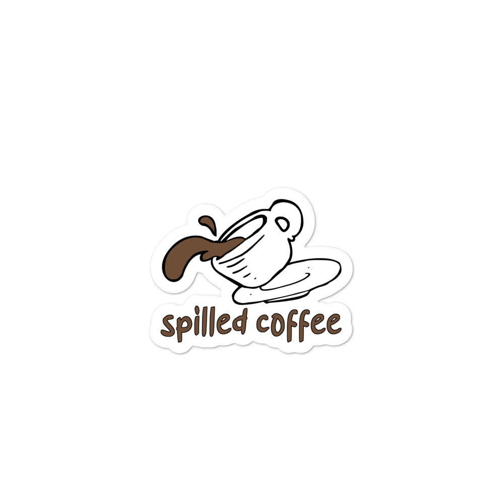 Spilled Coffee stickers