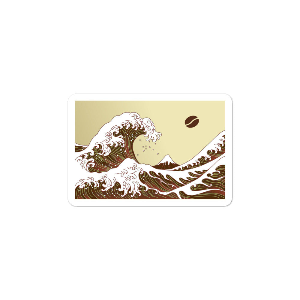 Coffee Wave stickers