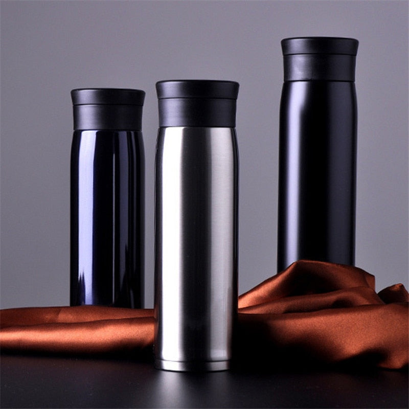 Outdoor Sport Vacuum Flasks Thermoses Cup Stainless Steel Insulation Bottle Heat Thermos Cup My Coffee Mug 6 Color 450 / 600ML