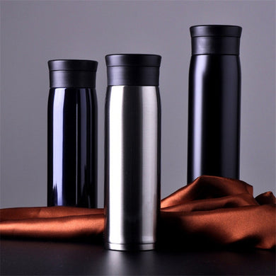450 / 600ML Outdoor Sport Vacuum Flasks Thermoses Cup Stainless Steel Insulation Bottle Heat Thermos Cup My Coffee Mug 6 Color