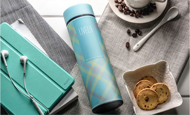Travel Thermocup Coffee Mugs - 450ml Thermoses Cup Thermo Mug Vacuum Flasks Stainless Steel Bottle Thermal Insulated Tumbler Travel Thermocup Coffee Mugs