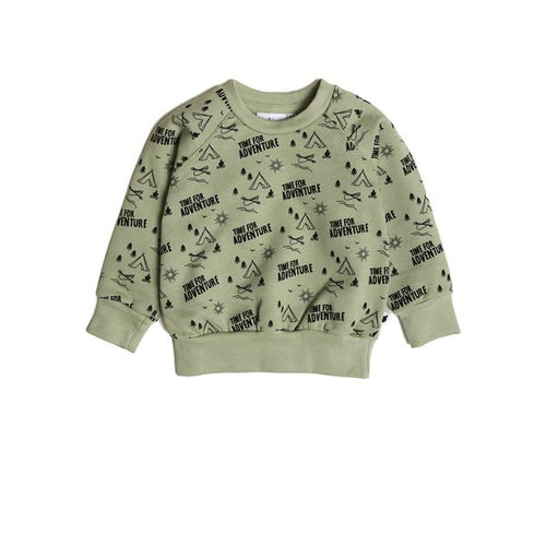 Tobias & The Bear, Adventure, Organic, Sweatshirt, Sage green.