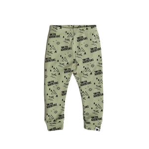Tobias & The Bear, leggings, organic, adventure, sage green.