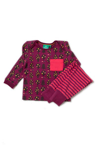 Little Green Radicals, Girls Set, Playaway, Pink leggings & long sleeved tee., Autumn
