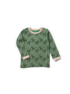 Little Green Radicals, Forest Doe, Green, Long Sleeved Tee, Christmas Top