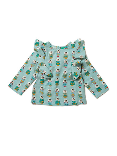 Little Green Radicals, Dressed for Snow, Mint Green, Girls, Party top