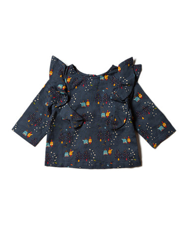 Little Green Radicals, Star gazer, Girls Top, Party, Navy Blue