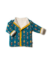 Load image into Gallery viewer, Little Green Radicals, Sherpa, Jacket, Teal, Organic
