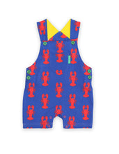 Load image into Gallery viewer, Lobster Print Dungaree Shorts