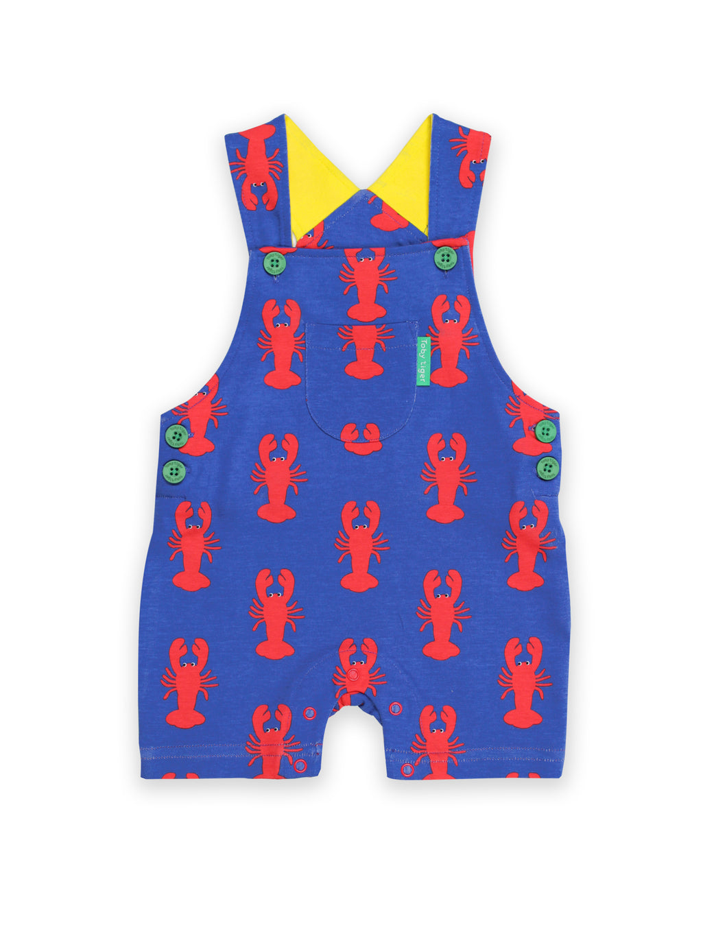 Lobster Print Dungaree Shorts