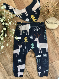 Christmas Reindeer Organic Leggings