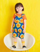 Load image into Gallery viewer, Sunflower Dungaree Shorts
