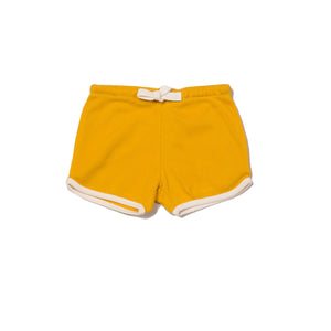 Pale Gold Rib Essential Shorts