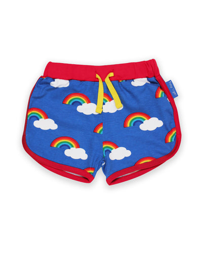 Organic Multi Rainbow Print Running Shorts