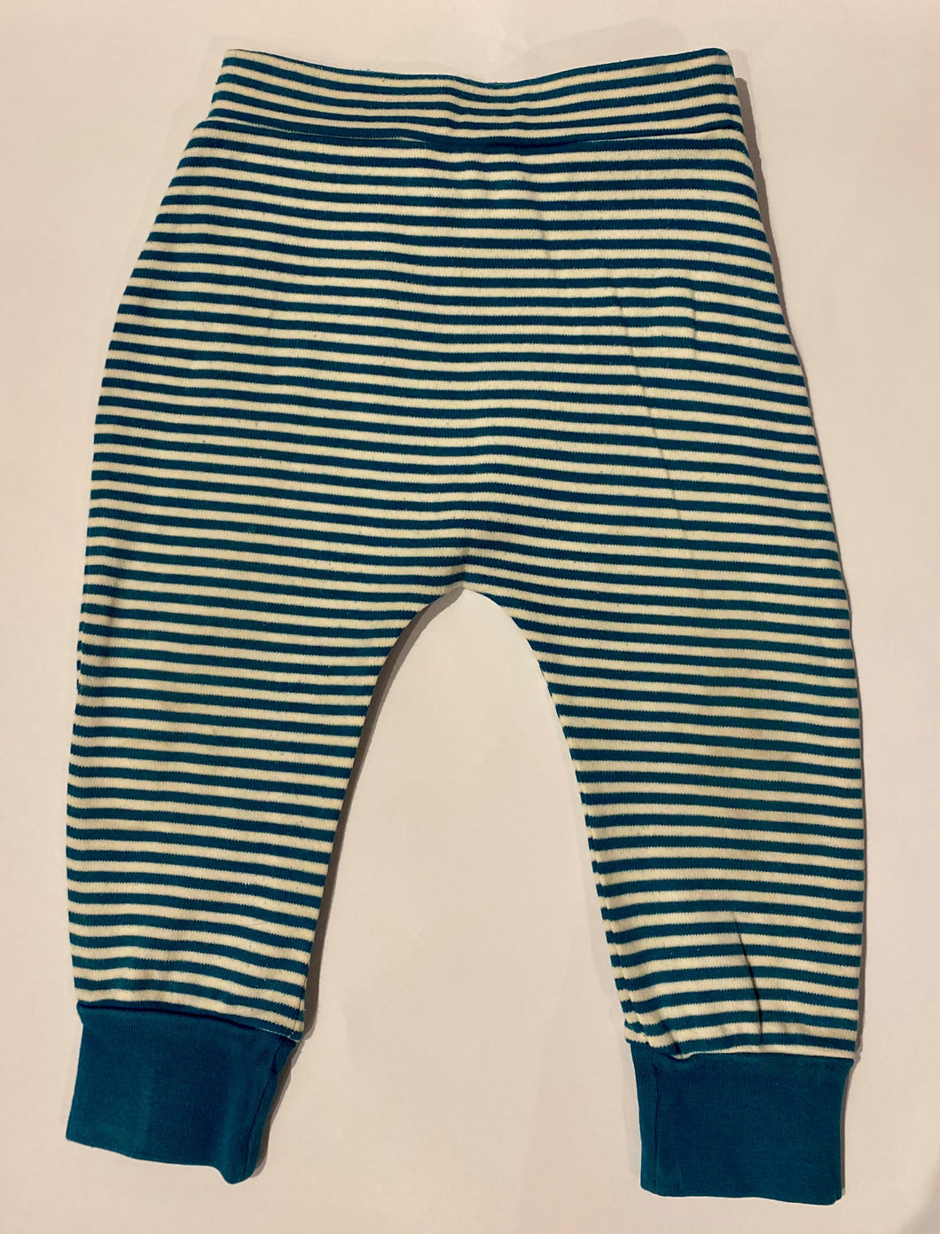 PRELOVED LGR Teal Striped Joggers 18-24months