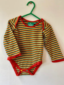 PRELOVED Rainbow Stripe Baby Body Suit  12-18months