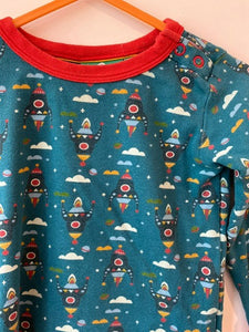 PRELOVED Night Sky Rocket Long Sleeved Tee 12-18months