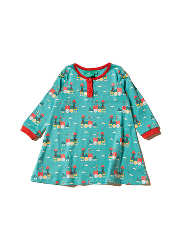 Little Green Radicals, Trains, Playaway, Dress, Organic