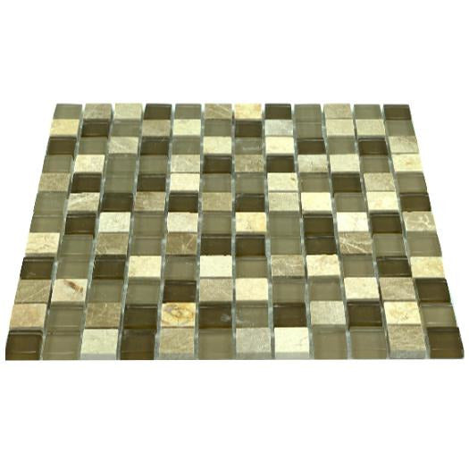 Glass and Stone Mix Mosaic Sheet/ Tile (Pickup only)- CAMS001