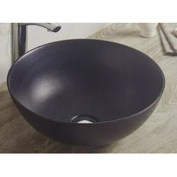 Bathroom above Counter Ceramic Sink Basin Black New Design Size 415x415x155mm- CABC7136K