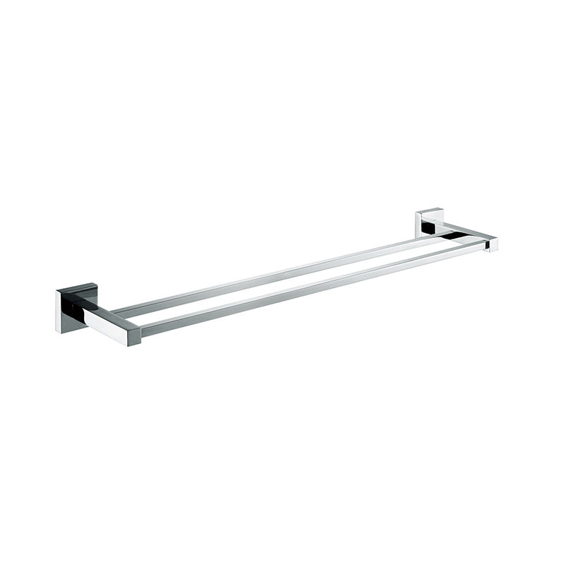 [Extra 15% off] Double Towel Rack Bar 600mm– Square- Stainless Steel- CA93608