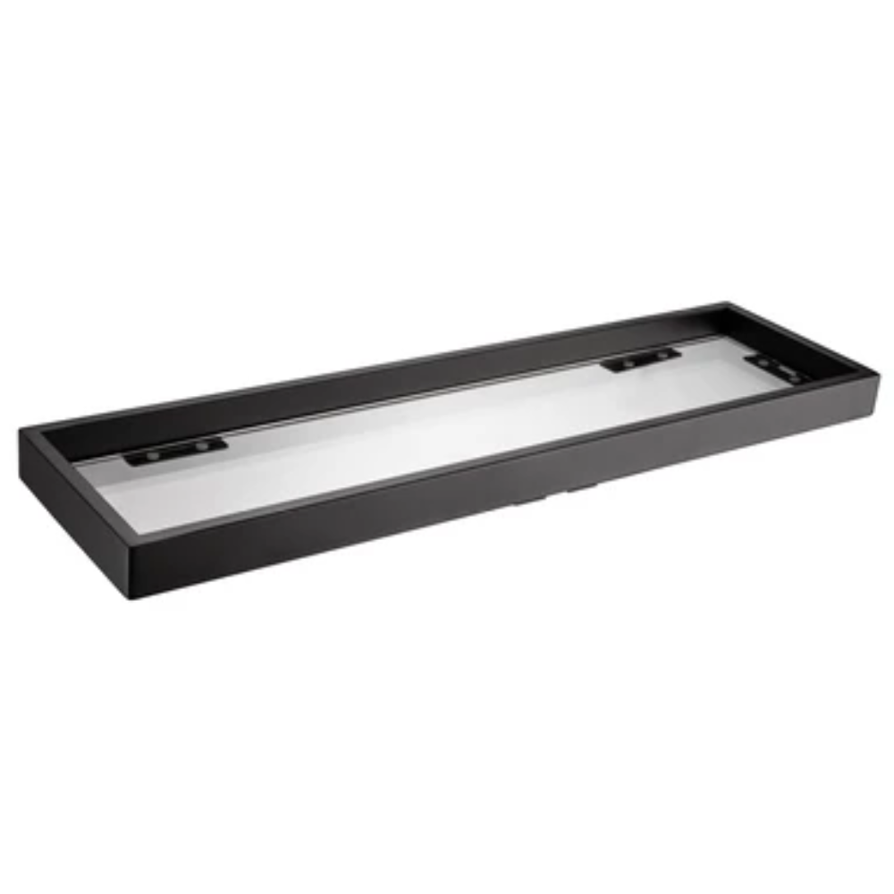Bathroom Glass Shelf Black Square- 550mm- B72003