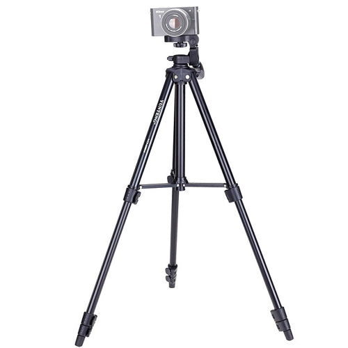 YUNTENG VCT-680RM 4-Section Folding Legs Aluminum Alloy Tripod Mount with Three-Dimensional Tripod Head for DSLR & Digital Camera- CADCA1446B