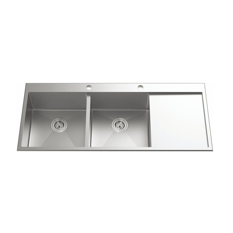 [Extra 10% off] Kitchen & Laundry Sinks Double Bowl Size 2*388mm- CA1607R