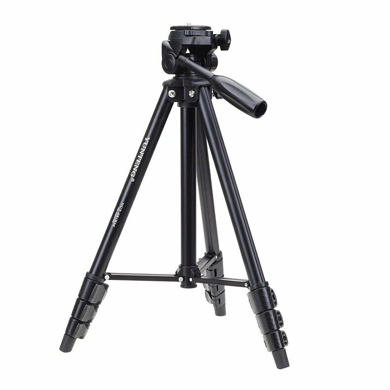 Yunteng VCT-681 Pro Aluminum Tripod with Damping Head & Bag for SLR Camera- CAS-DCA-0130