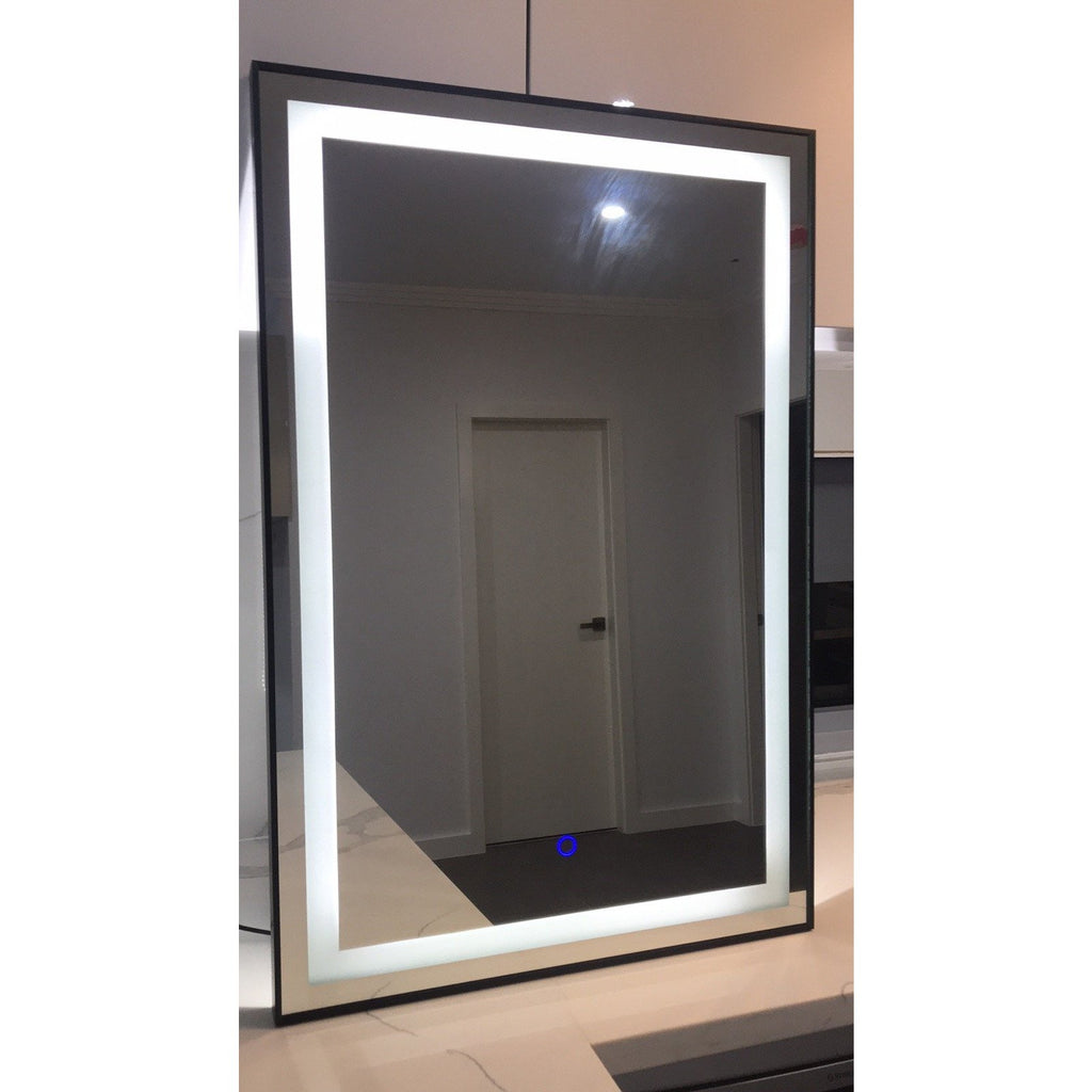 [Extra 15% off] Bathroom LED Mirror Silver Frame Size: 600(W)*900(H)mm- GY-D01