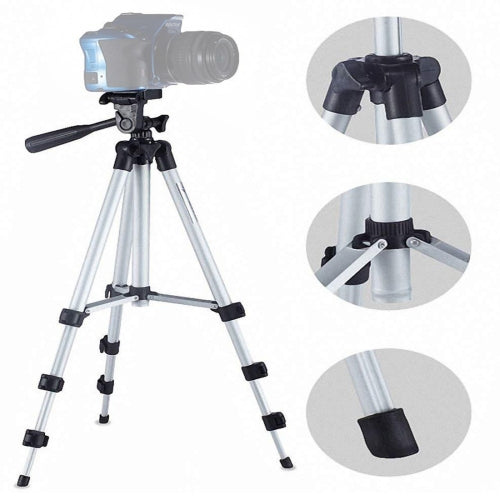 Tripod 4-Section Folding Legs, Tripod Mount with UShape Three Dimensional Tripod Head for DSLR & Digital Camera- CADCA1445