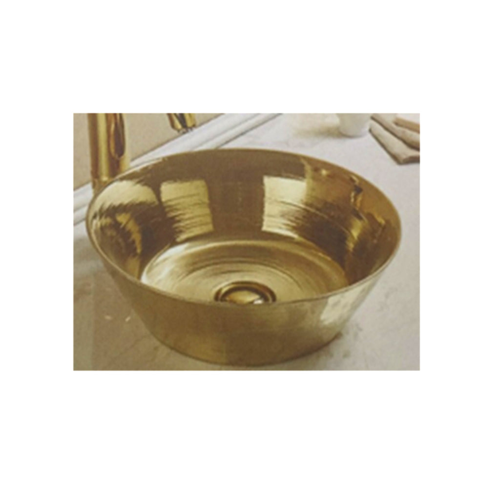 Bathroom above Counter Ceramic Sink Basin- Golden New Design- Size: 405x405x148mm- CABC7113G