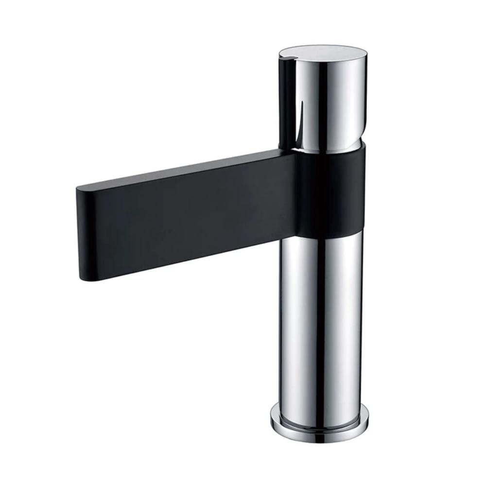 [Extra 10% off] Bathroom Basin Vanity Mixer Tap Faucet- Black & Chrome- CA02511A